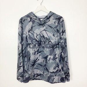 Adidas Gray & Black Camo Hoodie Sweatshirt XL